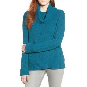 New Caslon Plus Size Cowl Neck Sweater Teal 1X